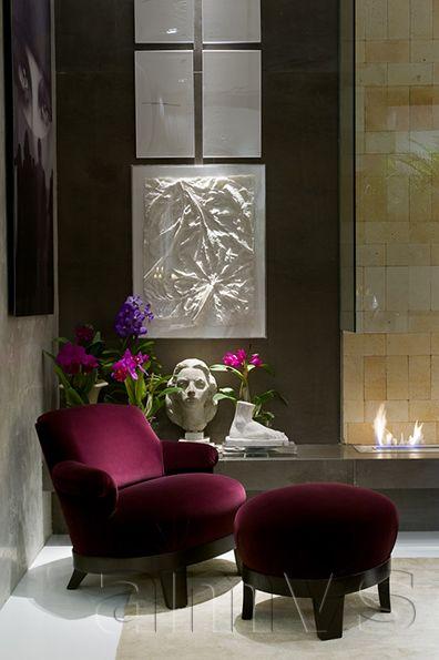 E-Buch Samt Bordeaux Sessel Leidenschaft-Tendenzen MWF