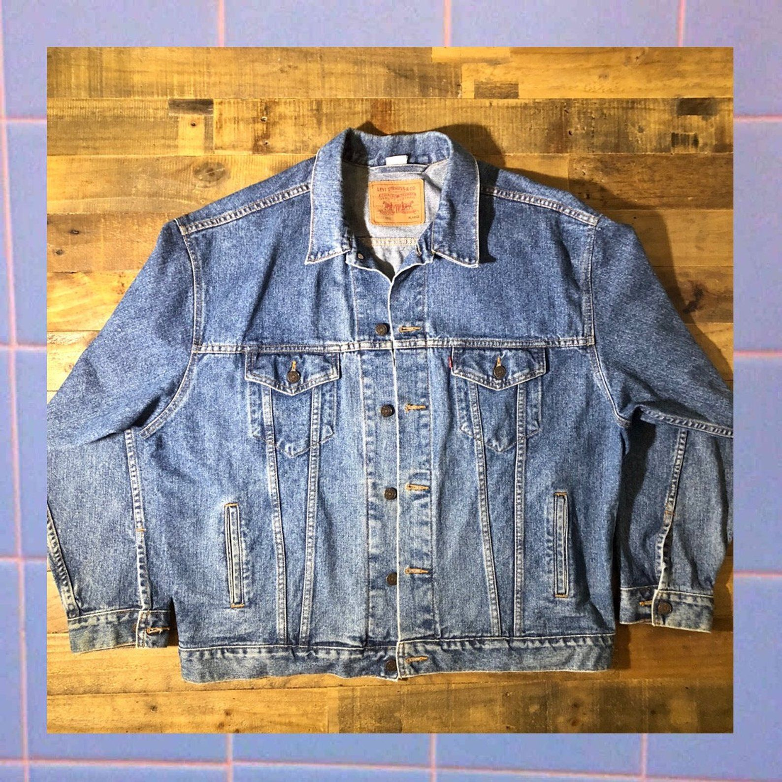 Vintage 90s Levis Denim Trucker Jacket 70507 Size Xl Etsy Jackets Trucker Jacket Denim
