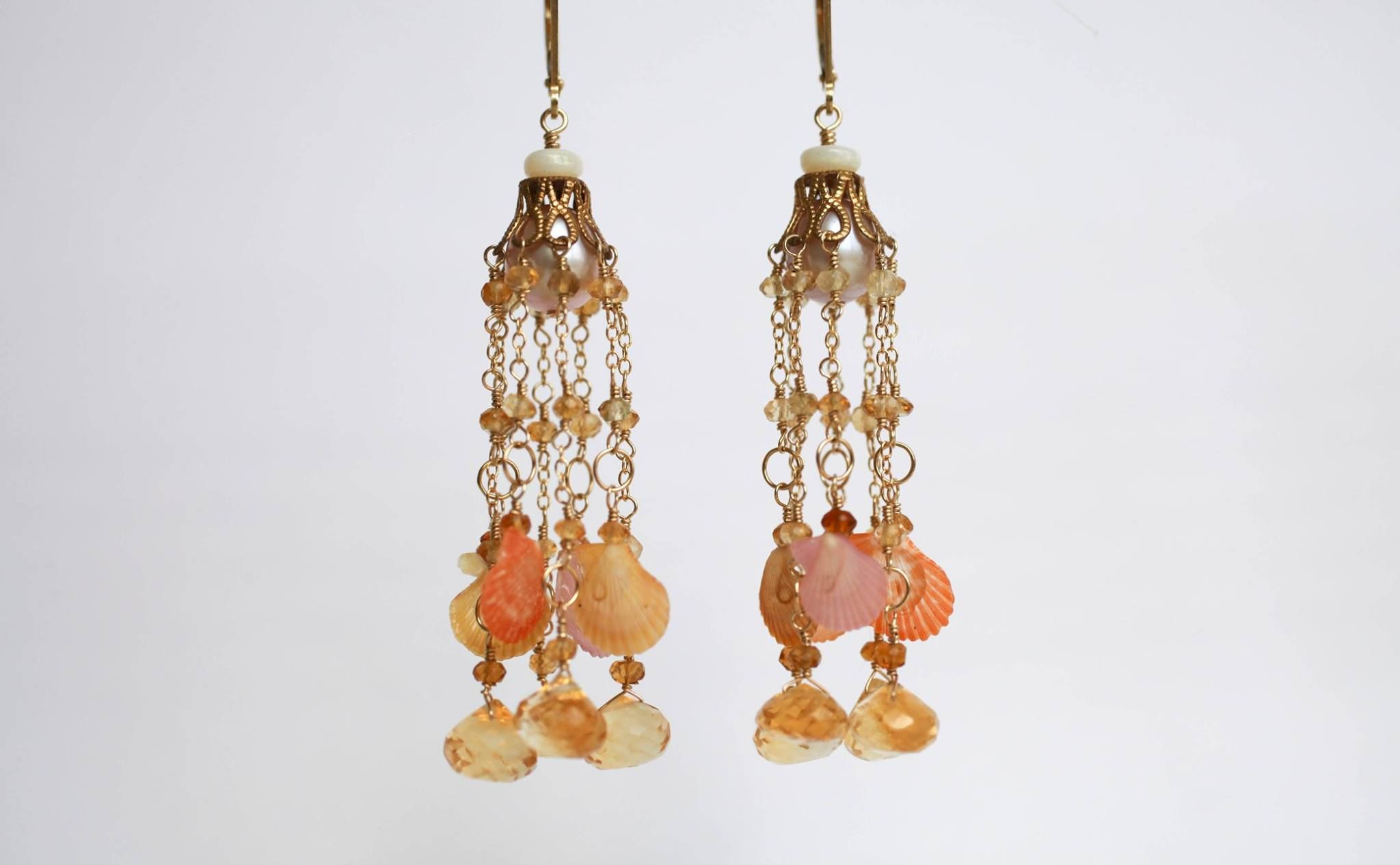 Freshwater fish kauai - Www Adovefinejewelry Com Deluxe Jelly Fish Tassel Earrings Dripping In Citrine Briolettes And