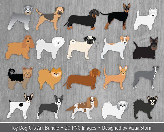 Png Toy Dogs Clipart Bundle 20 Small Dog Breeds Pug Etsy Dog Clip Art Dog Clip Dog Toys