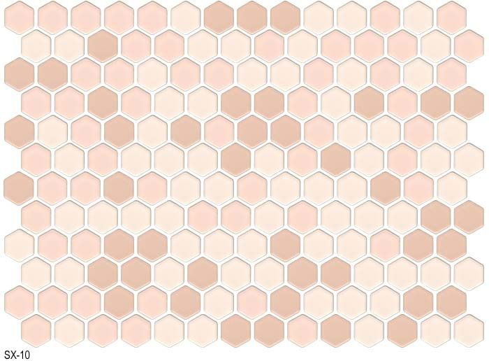 American Universal Corp Catalog Sx Series Hex Tile Hexagon Hexagonal Mosaic Hex Tile Ceramic Tile Bathrooms