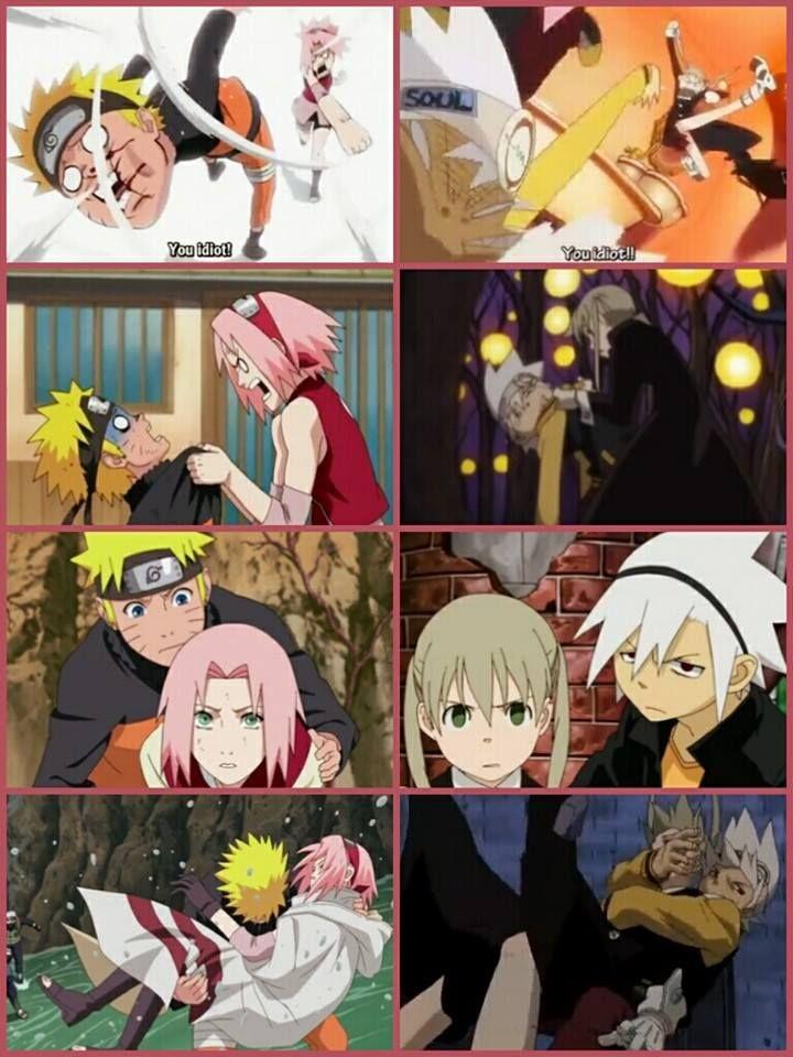 Similar Naruto And Sakura Soul And Maka Anime Crossover