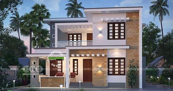 2001 Square Feet 35 Lakhs Cost Estimated Modern Home House Roof Design Modern Style House Plans Duplex House Design