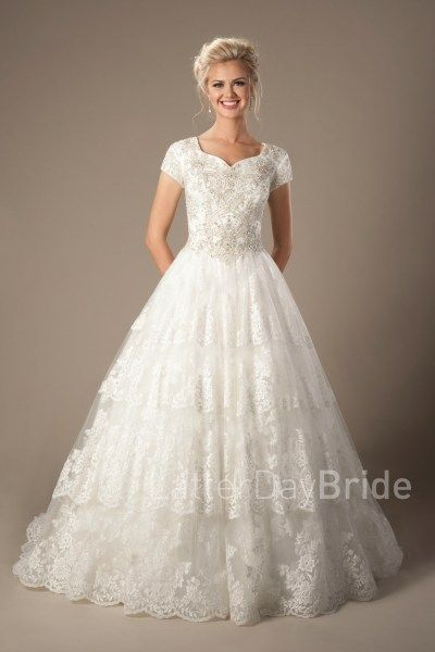 lds wedding dresses cecily modest bridal latterdaybride this stunning bridal gown features