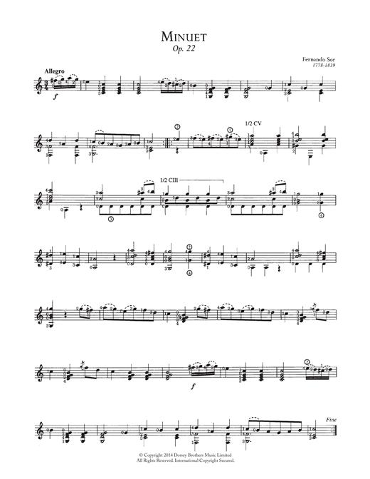 guitare classique partition gratuite