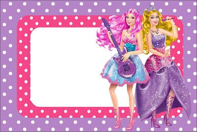 Imprimibles Barbie Princesa y Pop Star  Ideas y material gratis