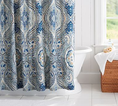 Beale Paisley Shower Curtain #potterybarn | Wanna Wanna Want | Pinterest |  Bath, House And Future House