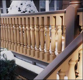 Best Turned Hemlock Baluster Usage Photo Porch Flooring 400 x 300