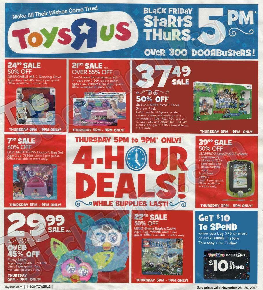 Toysrus Black Friday Ad 2013 Toysrus Black Friday Deals Sales Black Friday Toys Black Friday Ads Black Friday