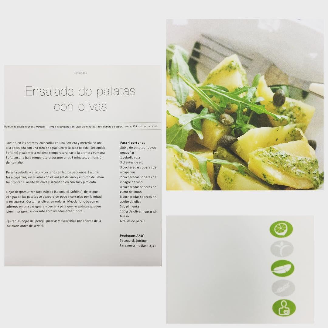 ¡Ensalada de patatas con olivas! ¡Una receta fresca y deliciosa para combatir la calor! #salad #potatoes #amcespaña #food #homemade #recipes @amcespana