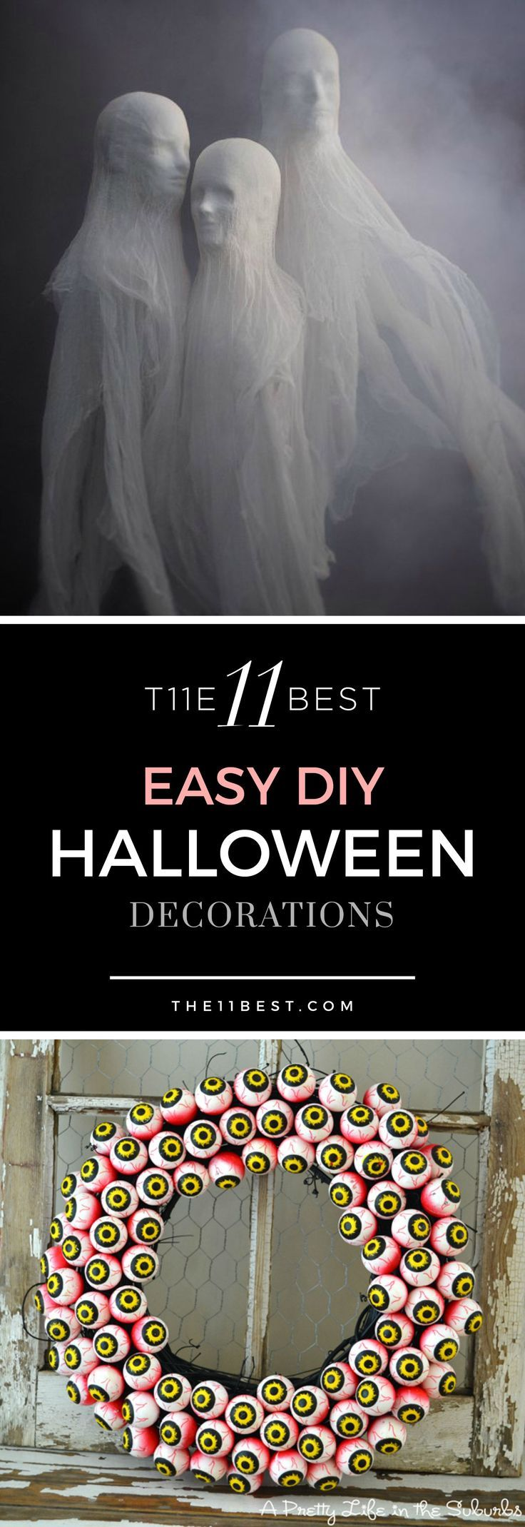 The 11 Best EASY DIY Halloween Decorations - Find supplies at Goodwill, your Halloween Headquarters! www.goodwillvalleys.com/shop/ #halloweendecorations