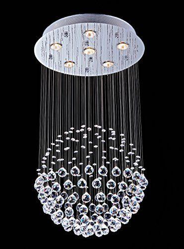 Crystal Chandelier Lighting, Saint Mossi Chandelier Modern K9 Crystal Raindrop Light