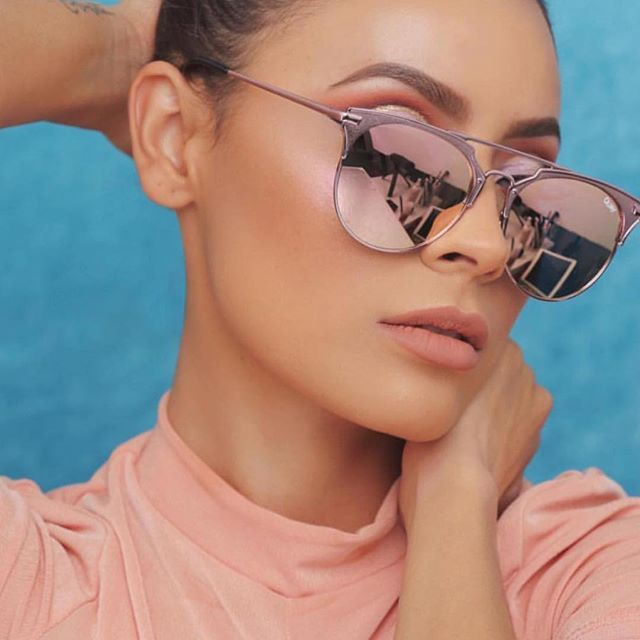 7dff49bac6b QUAY AUSTRALIA X CHRISSPY ONLINE NOW!!  desiperkins wearing GEMINI Rose Gold  Shop online now ➖ www.whitefoxboutique.com or click the