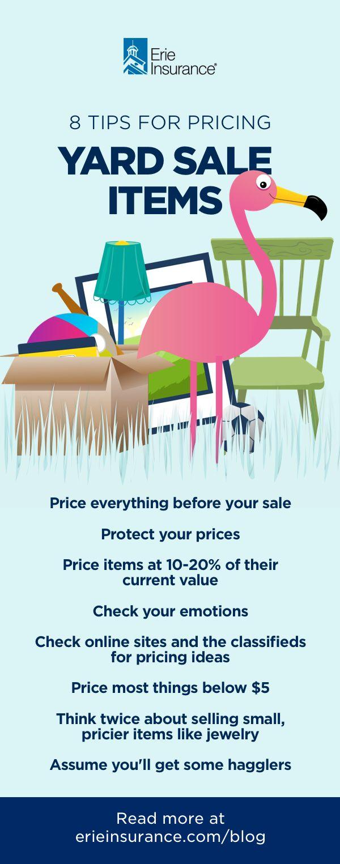 How to Price Yard Sale Items Yard sale, Garage sale