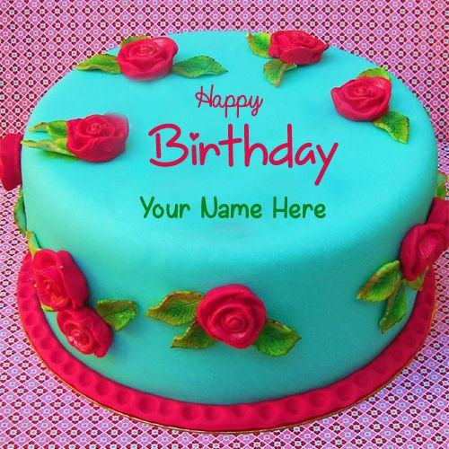 Write Name on Birthday Cake - suraj patil | Pinterest - Beautiful ...