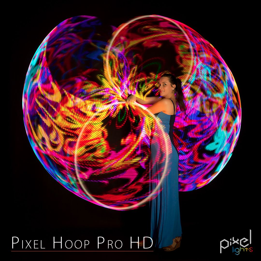 Outdoor Hula Hoop mit LED