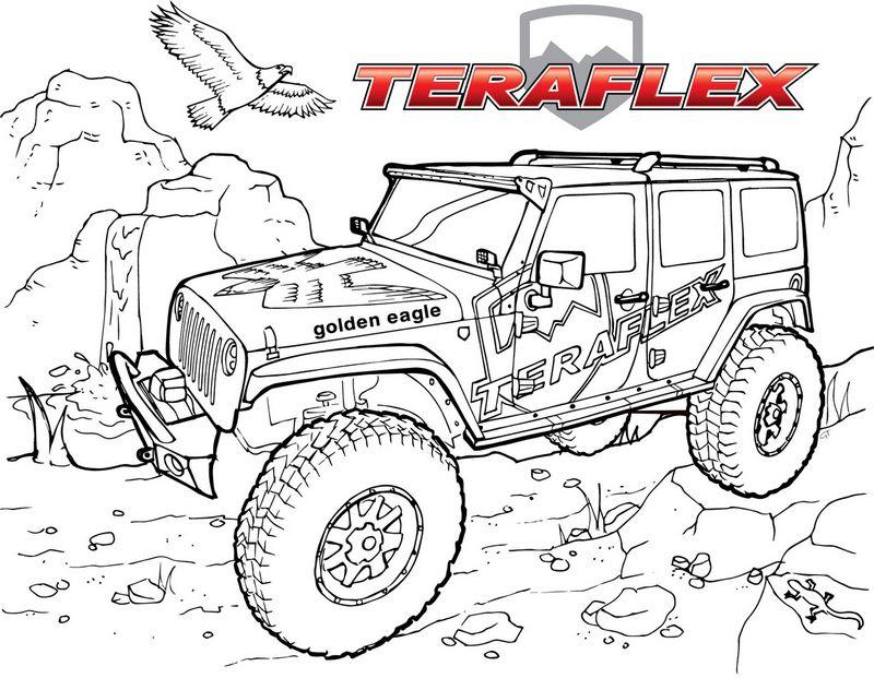 Jeep Teraflex Off Road Kolorowanki