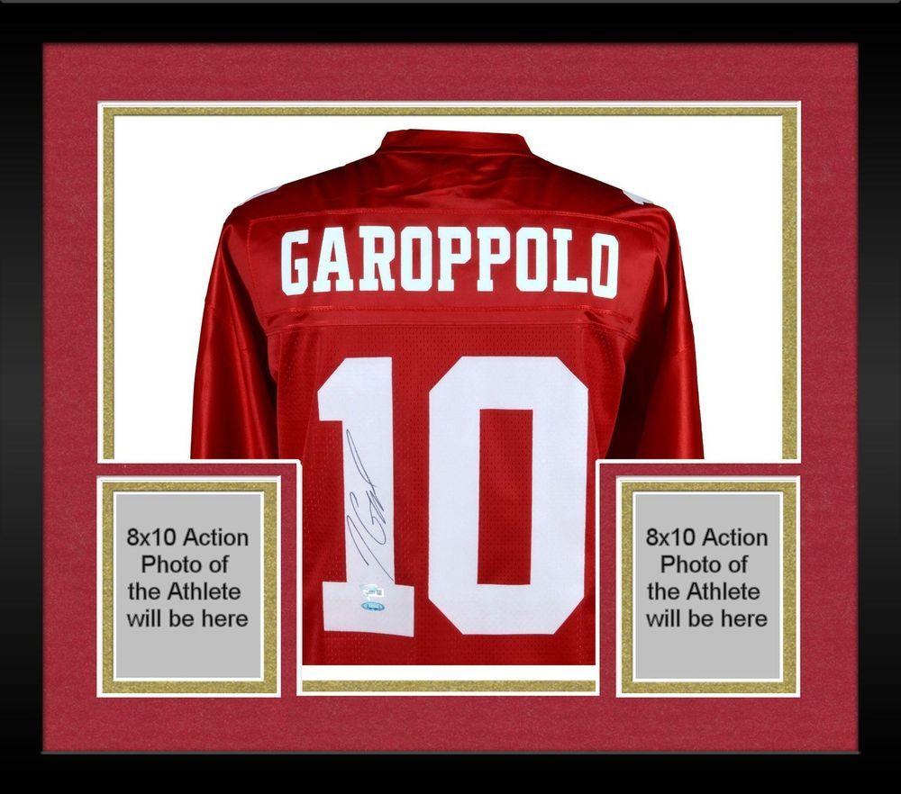 3c321b45b Framed Jimmy Garoppolo San Francisco 49ers Autographed Red NFL Pro-Line  Jersey  sportsmemorabilia  autograph  football