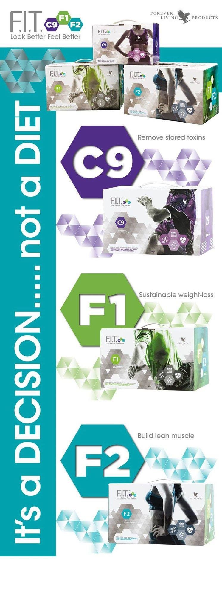 Clean9 - remove stored toxins, look and feel better. A kick-start to a healthier you.   FIT 1 - Change the way you think about food and exercise.   FIT 2 - build lean muscle for sustainable weight loss. Products available at http://www.healeraloe.flp.com/