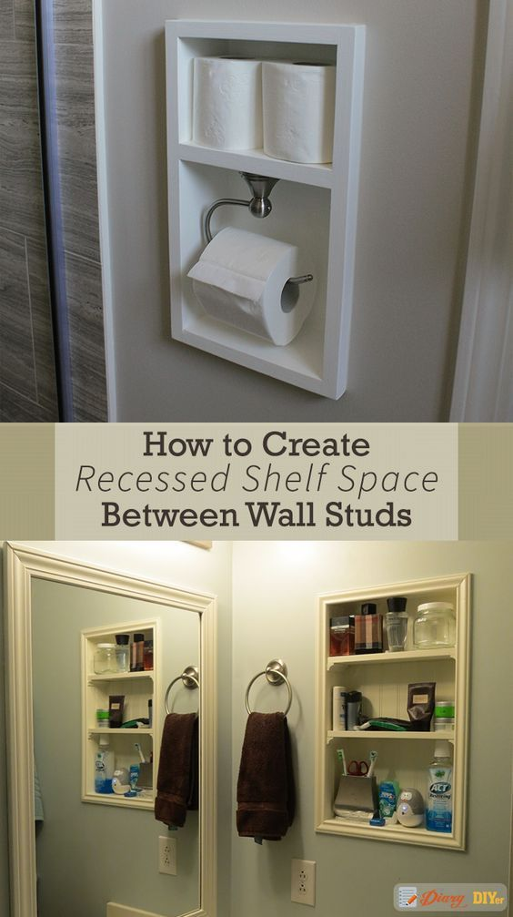 Time For Recess How To Create Shelf Space Between Studs With