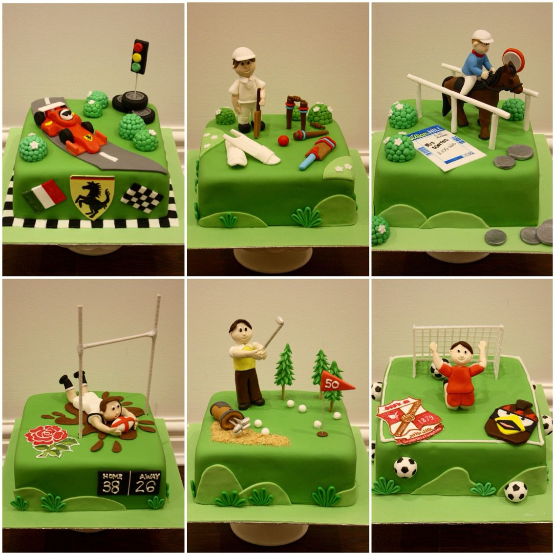 Sports Theme Cakes For A Sports Fan Comprising Of Cricket