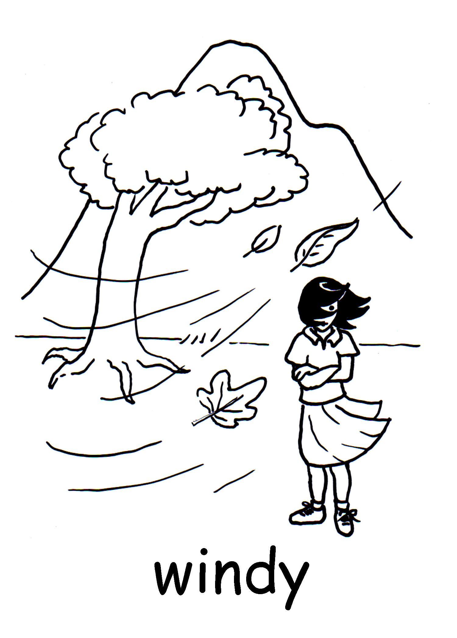 Windy Jpg 1500 2094 Kindergarten Worksheets Coloring Pages Coloring Pages For Kids