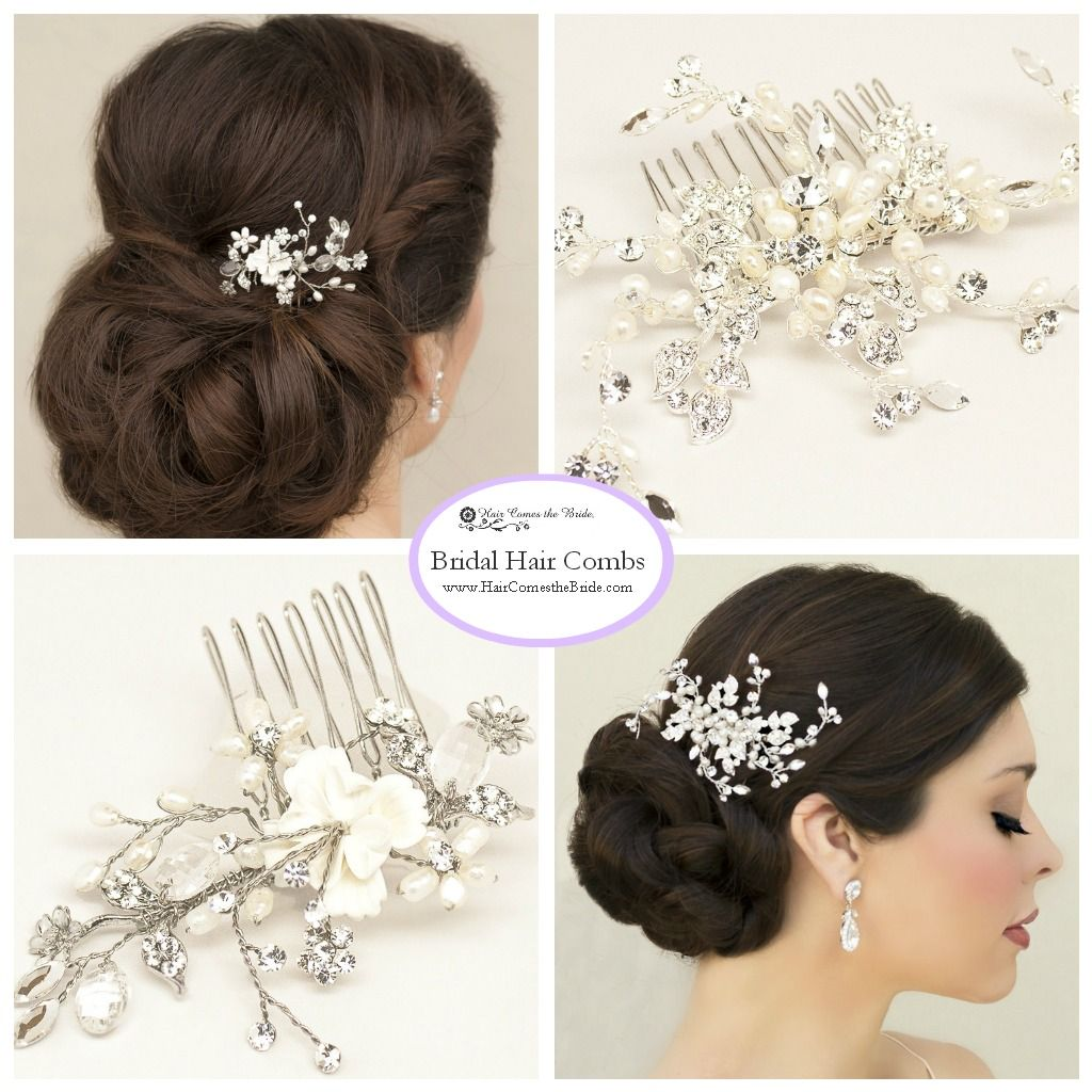 Bridal Hair Combs and Clips Accessories by Hair Comes the Bride