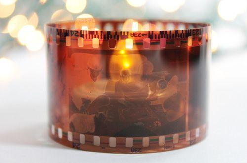 DIY胶片蜡烛台小装饰-拼布网