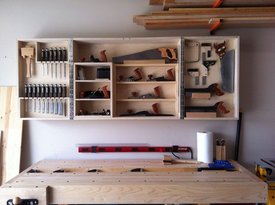 Wall mounted hand tool cabinet - by nwbusa @ LumberJocks.com ~ woodworking  community