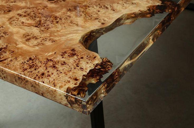 Custom Live Edge Tisch aus MappaWurzelholz UVHarzTisch EpoxyTisch aus einer einzigen Pl Custom Live Edge Tisch aus MappaWurzelholz UVHarzTisch EpoxyTisch aus einer einzig...