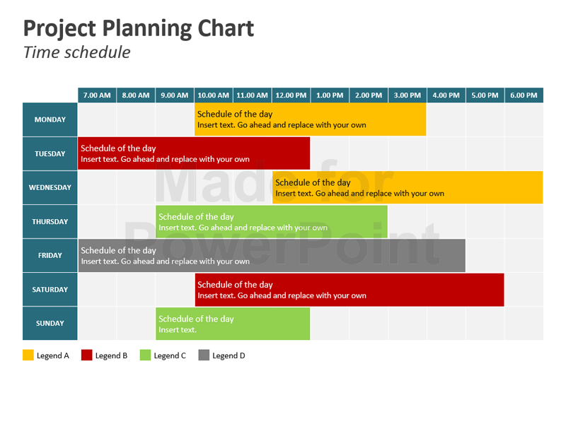 project planning chart powerpoint slides ガント pinterest