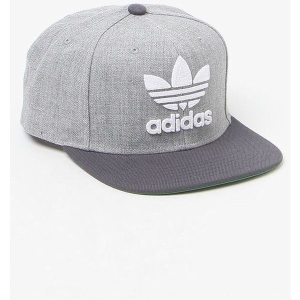 442f8e674c8 adidas Thrasher Chain Heather Grey Snapback Hat ❤ liked on Polyvore  featuring accessories