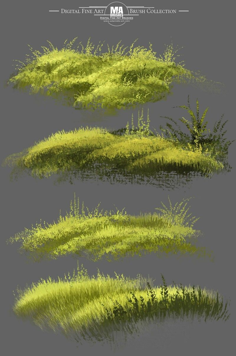 Photoshop MA-Brushes also for Foliage, Grass, Trees and Rocks!, MA - Photoshop ART Brushes