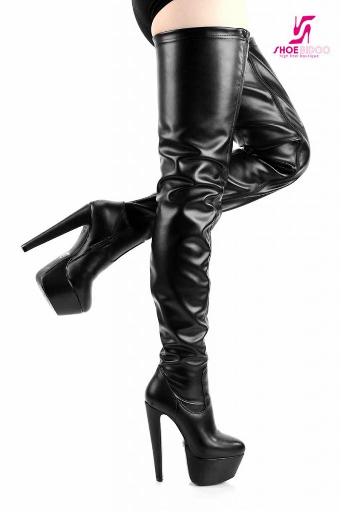 9a777f775 Black Giaro 16cm high heeled Destroyer platform thigh boots - Shoebidoo  Shoes | Giaro high heels