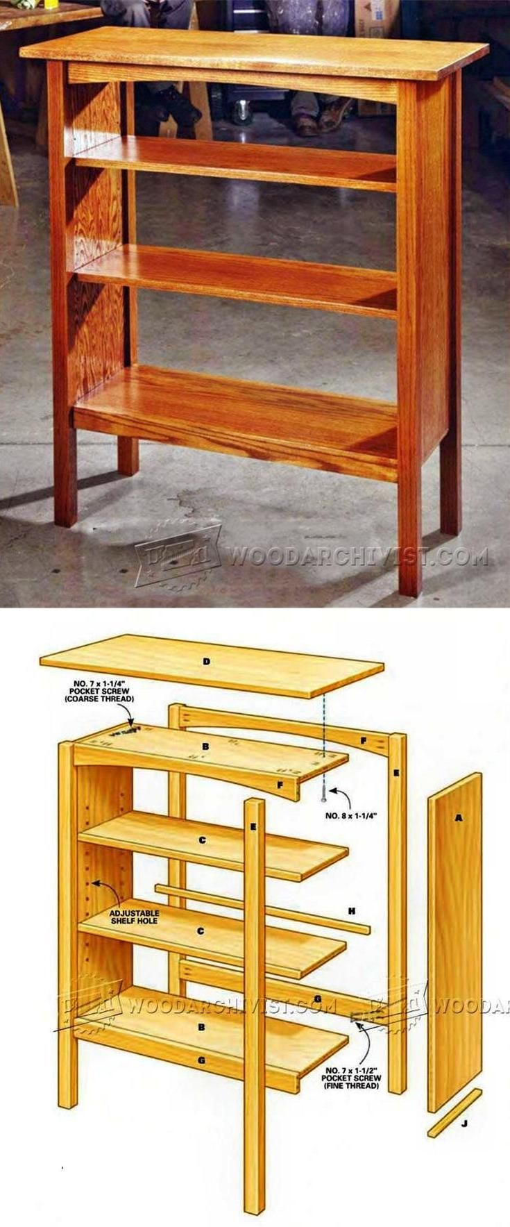 Simple Bookcase Plans - Furniture Plans and Projects | WoodArchivist.com - Simple Bookcase Plans - Furniture Plans And Projects