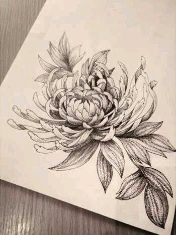 Chrysanthemum Left Foot Idea God Sees Me As Absolutely Perfect Chrysanthemum Tattoo