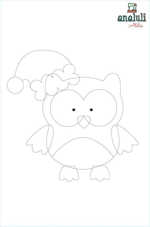 Aparador Imaginus Tabaco ~ M u00e3e& Filha Artesanatos Molde Coruja natal corujas