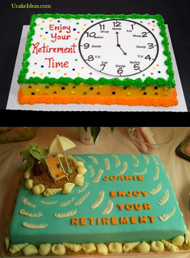 Placing Retirement Cake Ideas In The Right Moment Sheet