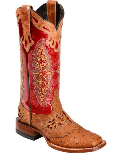 3f17d1171b0 Lucchese Women's Amberlyn Exotic Ostrich Western Boots | Style ...