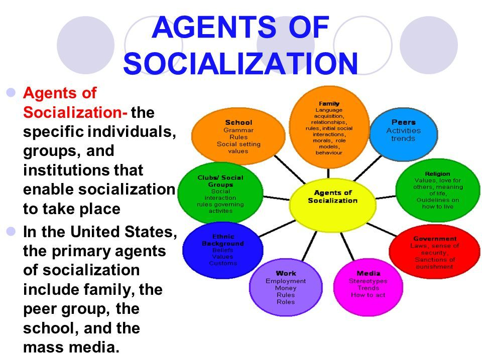 7 agents of socialization
