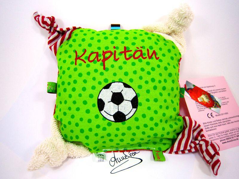 Greifling *Fußball* Nuckeltuch Schmusetuch Baby  von www.annesvea.de