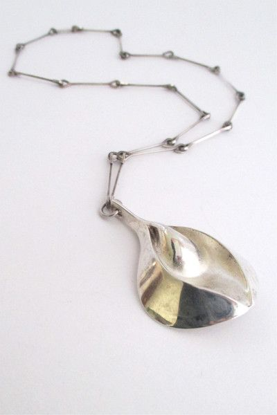 Matti Hyvarinen, Finland - vintage large sterling silver pendant necklace