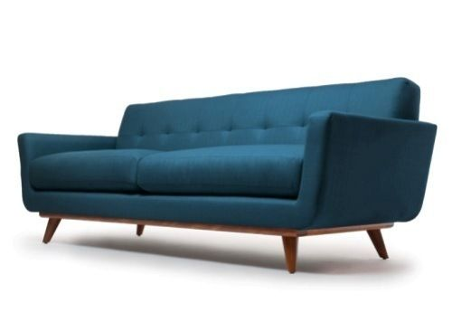 Broyhill Sofa Cleveland Sofa l Shade Red Fabric l Thrive Furniture Contemporary Furniture Midcentury design
