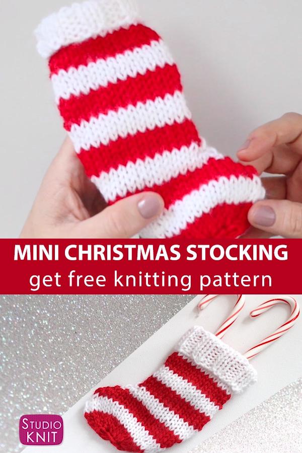 Photo of Mini Christmas Stocking Knitting Pattern