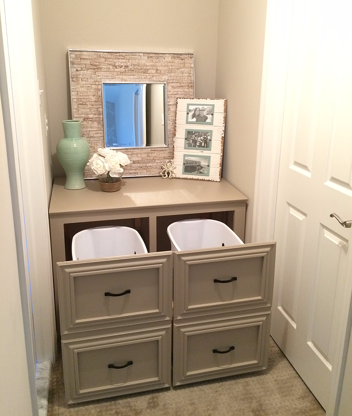 from house to home   hidden laundry baskets   organization, Hause ideen