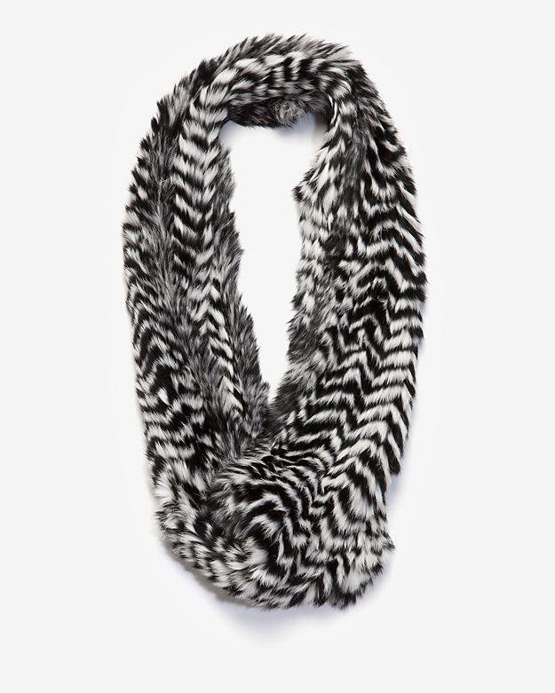 Jocelyn B&W Long Infinity Fur Scarf