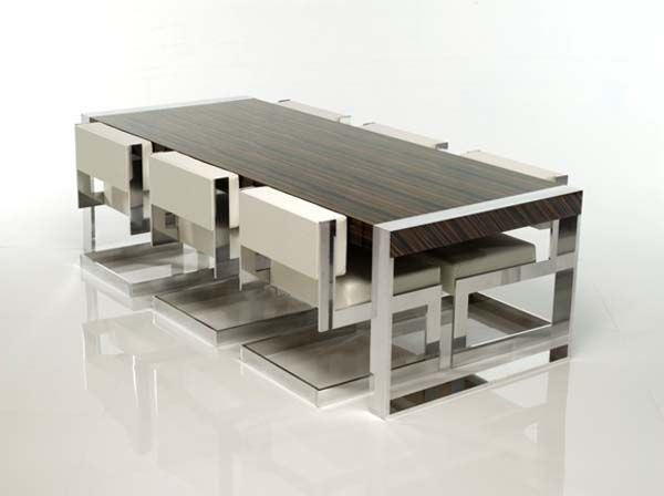 Aluminum Frames Minimalist Modern Dining Table And Chair By Michael  Malmborg   Home Design Inspiration