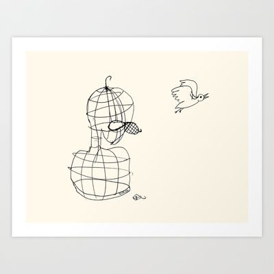 This Bird Has Flown. Art Print by Richard J. Bailey - $19.99