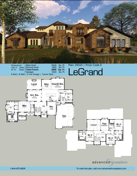 1 5 Story Mediterranean House Plan Legrand Mediterranean House Plan Mediterranean Homes Advanced House Plans
