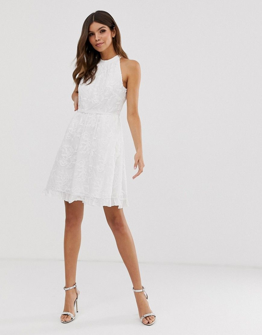 Ted Baker Iorene Embroidered Skater Dress White Dresses Ted Baker Dress Dresses For Sale